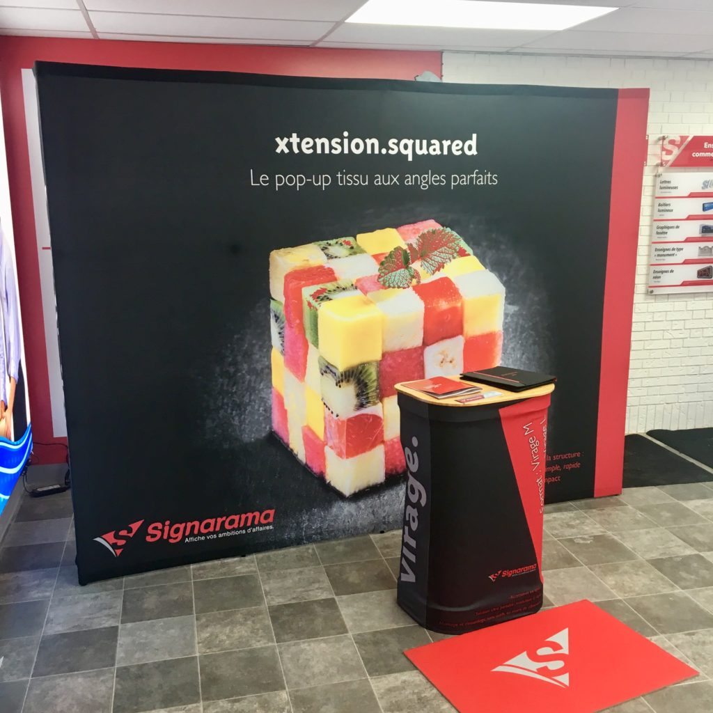 pop-up display-stand-duo display